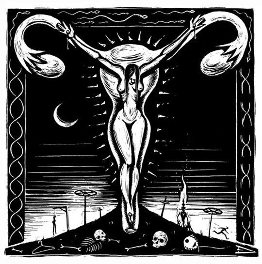 Sacred Uterus by Eric Drooker